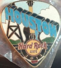 Hard Rock Cafe HOUSTON 2012 POSTCARD Series Guitar Pick PIN Post Card HRC #67985