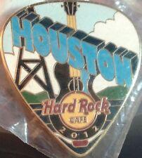 Hard Rock Cafe HOUSTON 2012 POSTCARD Series Guitar Pick PIN Post Card HRC #67985