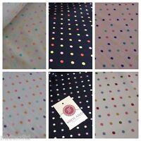 """5mm Spot Polka Dots Multi Coloured Dress Craft 100% Cotton Poplin Fabric 45"""" M21"""