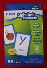 Mead Alphabet Flashcards, 55 Cards, Grades Pre-K to 1 63038