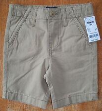 *NWT* OshKosh B'Gosh Flat Front Chino Shorts in Tan - Size 3T.  FREE SHIPPING!