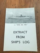 More details for  s.s. reina del mar . extract from ships log .1959 ( havana to liverpool )
