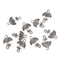 Umbrella parasol Tibetan Silver Bead charms Pendants fit bracelet 10pcs 15*12mm