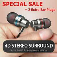 Earbuds In-Ear Sound Isolating Wired Headphones Headset with Mic & Volume 3.5mm