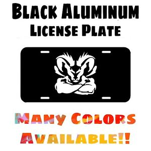 Fits Ram Black Aluminum License Plate (Different Colors Available