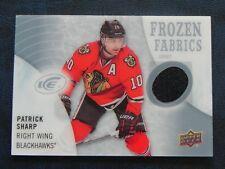 2014-15 14/15 UD Ice Frozen Fabrics Patrick Sharp Chicago Blackhawks Black