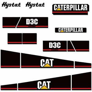 Caterpillar Graphic Sticker Decal Kit for CAT D3C Crawler Dozer Tractor