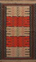 Tribal Sumak Kilim Oriental Area Rug Wool Flat-Woven Traditional Carpet 4x6 ft