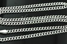 6.00 grams 18k solid white gold hollow curb link chain necklace 16 inch #3212