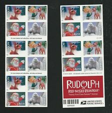 2014 #4949b Rudolph the Red-Nosed Reindeer booklet of 20 forever with 4946-4949