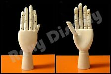 Wooden Style Female Left Hand Display Movable fingers and wrist #JW-FWHAND-L
