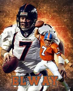 Denver Broncos Lithograph print of John Elway