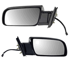 2 Side View Door Mirror Assembly L & R Replace GMC Chevy OEM # 15036360