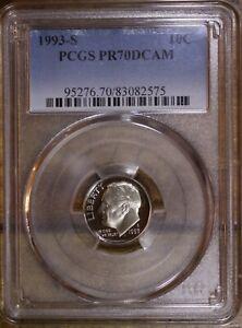 1993 S 10C Roosevelt Dime Proof PCGS PR70DCAM Top Pop!