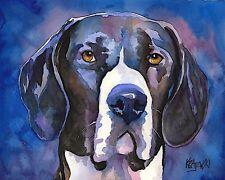 Great Dane Dog Art Print Signed by Artist Ron Krajewski Painting 8x10