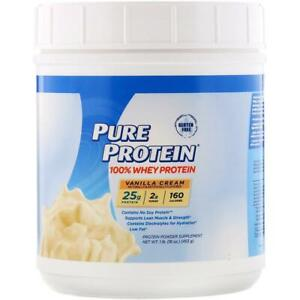 Pure Protein, 100% Whey Protein, Vanilla Cream, 1 lb (453 g), NEW & SEALED