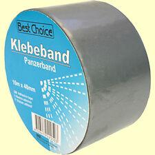 CINGHIAGGIO forte nastro in Tessuto 10m x 48 MM ARGENTO CORAZZATO Tape adesivo