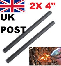 "2x 100mm 4"" FLINT STEEL FERRO MAGNESIUM ROD FIRE LIGHTER STARTER LONG SURVIVAL"
