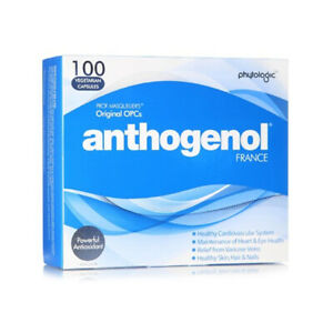 New Anthogenol 100 Vegetarian Capsules with MASQUELIER'S Original OPCs