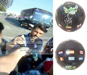 David Villa Spain Espana NYC FC Signed World Cup Soccer Ball Proof Autograph COA