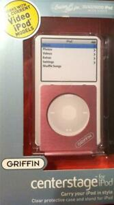 GRIFFIN for Apple iPOD Video 30 60 80 GB Protective Case Stand * NEW Clear Pink