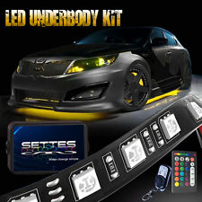 18 Color LED Strip Light Under Car Underglow Underbody System Neon Lights Kit