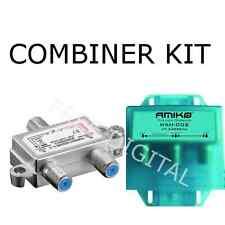 KIT - Satellite & Terrestrial Combiner / Diplexer / Splitter - INDOOR & OUTDOOR