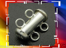 FERMOIR * TUBE 2 RANG * 14,70 mm  EN ARGENT MASSIF 925 *.Réf: STER-A015-1