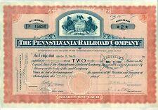 Pennsylvania Railroad Company Stock Certificate 1911-1919 Teens 1910's Horses