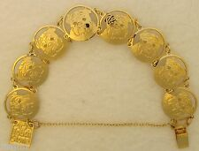 Bulldog Jewelry Gold Face Bracelet by Touchstone Dog Designs