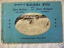 1930s Kakabeka Falls,Ontario,Canada, Souvenir View Book