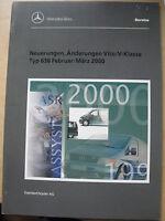 Mercedes Vito + V-Klasse 638 - März 2000 - Änderungen