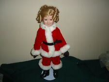 Shirley Temple Christmas Doll Collection Santa's Helper 17� Danbury Mint