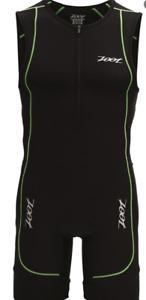 ZOOT - Men's Performance Tri Racesuit - Black/Pure Yellow - LARGE