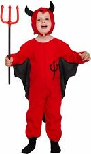 Toddler Red Devil Demon Satan Halloween Party Fancy Dress Costume Outfit 3 Years