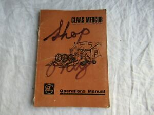 1966 Claas Mercur combine operator's operations manual
