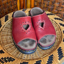 RARE Vintage Dr. Martens Leather Sandals Red Hearts