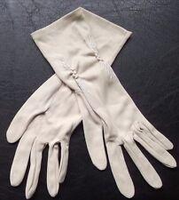 Fantaisie femme nylon gants vintage 1960s 1970s beige moyen 7 empire made