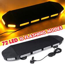216W 72 LED Emergency Beacon Light Bar Warning Truck Tow Roof Top Strobe Amber
