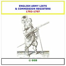 ENGLISH ARMY LISTS & COMMISSION REGISTERS 1702-1707 CD ROM