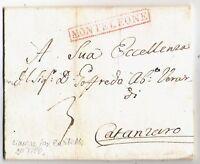 Monteleone-  annullo Lineare  rosso  -  per Catanzaro nel 1816 - Lettera interno