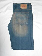 Levi 502 Red Tab Men's Stone Wash Designer Distressed Jeans 34 Waist 34 Leg#144