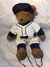 Bear Ruth Plush Doll  North American Bear Company 1987 Baseball Yankees