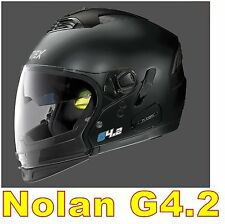 """CASCO NOLAN GREX G4.2 N-COM  EX N43E AIR NERO OPACO COL.2 Tg. """"L"""" BLACK FLAT"""