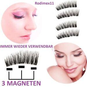 ProfessionelleXXL-3D-Magnet-Wimpern-mit-3-Magneten-künstliche-Wimpern-Eyelashe