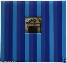 K&Company 12x12 Light & Dark Blue Striped Scrapbook Album 10 Pages NWT