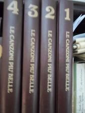 LE CANZONI PIU' BELLE  4 voll. +  80 dischi in vinile 45 giri con raccoglitore