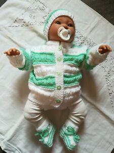 Reborn Baby Garnitur,  Ausfahrgarnitur, 3 tlg. Größe 50 - 56 Neu