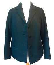 VINTAGE 1950-60s SCOTTISH HAND WOVEN WOOL TWEED BESPOKE FITTED JACKET SKIRT SUIT