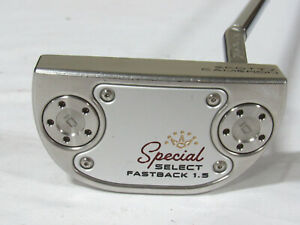 "Used RH Titleist Scotty Cameron Special Select Fastback 1.5 35"" Putter"